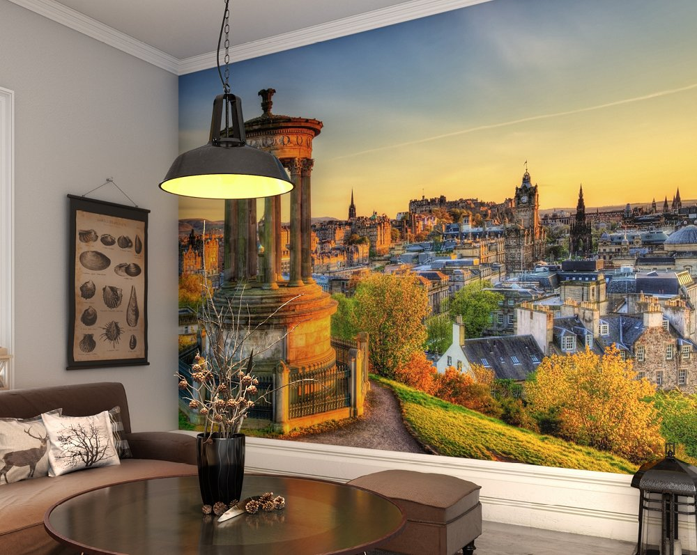 Calton hill edinburgh wallpaper mural ohpopsi for Edinburgh wall mural