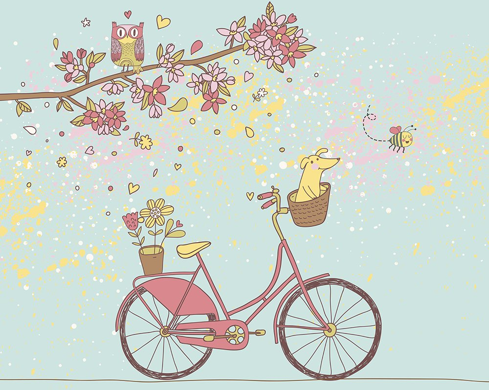 Care free day wall mural ohpopsi for A perfect day wall mural