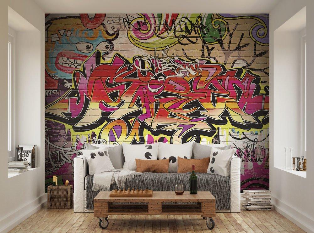 City graffiti wallpaper mural ohpopsi for City wall mural wallpaper