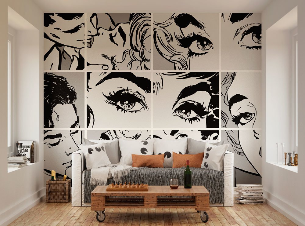 рисунки на стенах чб
