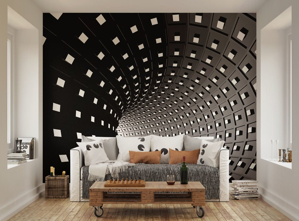 Infinity Tunnel 3d Wall Mural Wallpaper Mural Ohpopsi