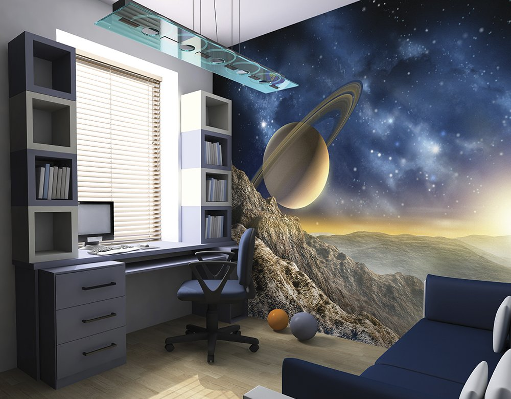Galaxy wallpaper mural ohpopsi for Space wallpaper for kids room