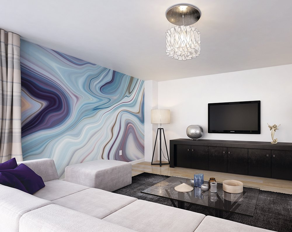 Marbled Ink Wall Mural Wallpaper Ohpopsi