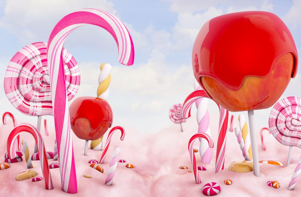 Photo wallpaper candy land sweets wall mural ohpopsi for Candyland wall mural