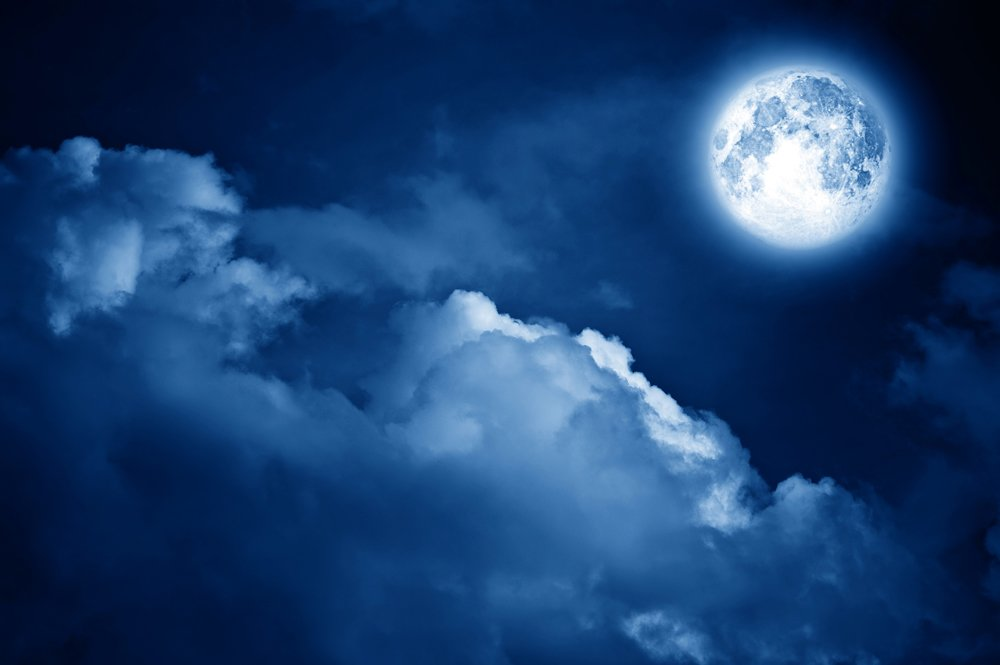 Magic Moon In The Night Sky Wall Mural Part 72
