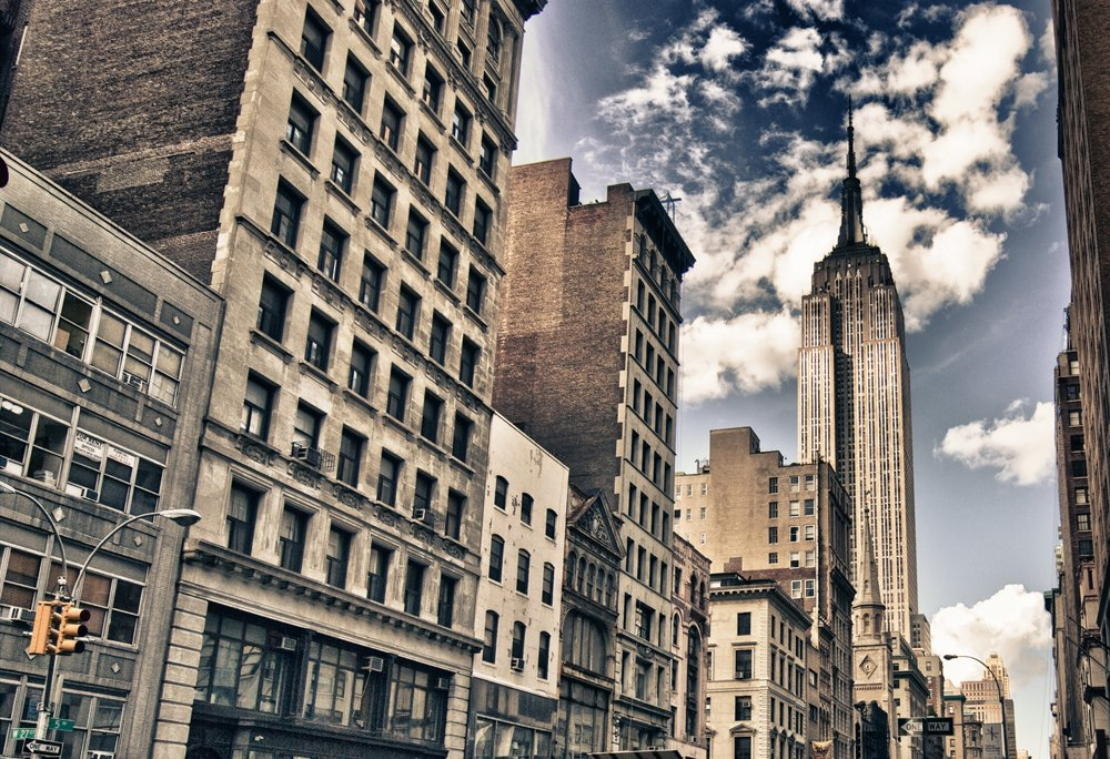 Photo wallpaper empire state building wall mural ohpopsi for Empire state building wall mural