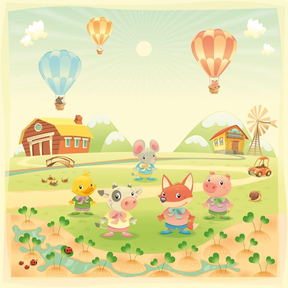 Photo Wallpaper For Kids | Farm Animals Wallpaper | ohpopsi