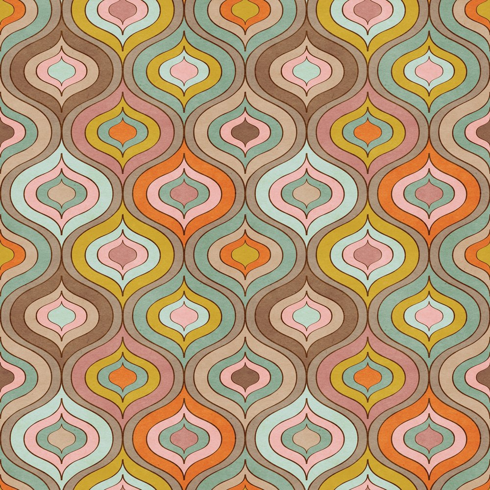 Photo Wallpaper | 70s Pattern Mural Wallpaper | ohpopsi